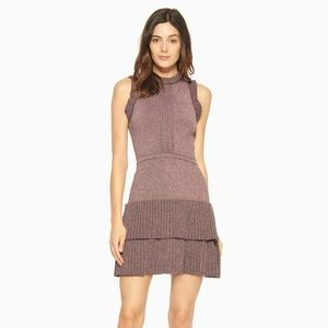 Parker Jojo Knit Ruffle Mini Dress in Dragonfruit